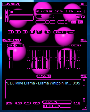 A tour of my incomplete/unpublished winamp skins folder - Winamp