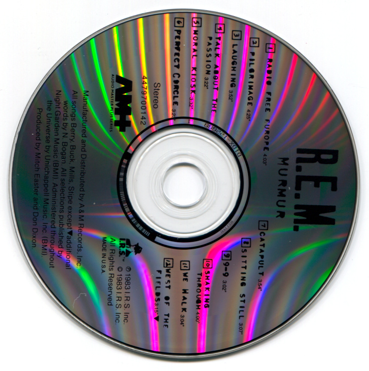 A CD scanned with a CCD/LED scanner has an annoying complex rainbow pattern